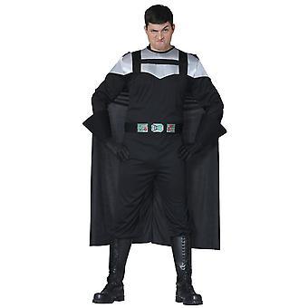 Mens Dark Knight Darth Vader Fancy Dress Costume