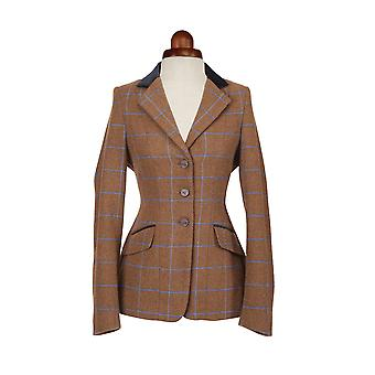 Shires Aubrion Saratoga Womens Riding Jacket - Brown Tweed