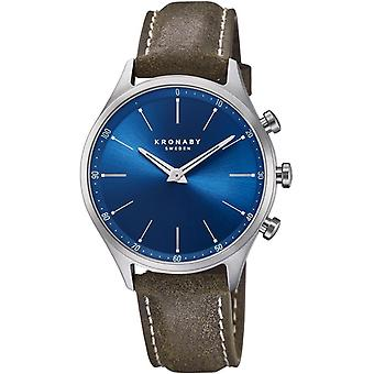 Kronaby Sekel Quartz Analog Men Watch With Cowskin Bracelet S3759/1