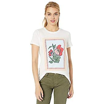 Lucky Brand Mujeres's Poppies TEE, Lucky White, S