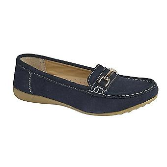 Boulevard Womens/Ladies Suede Tassle Loafers