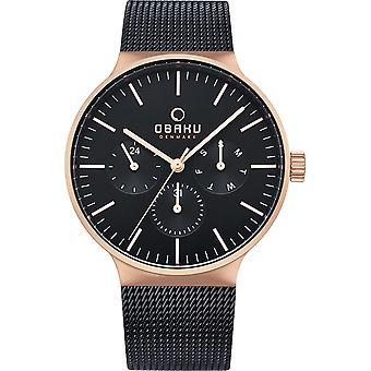 Obaku Mos Night Men's Wristwatch V229GMVBMB