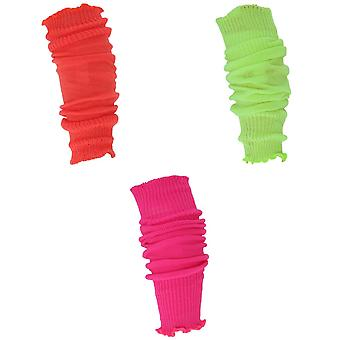 Ladies/Womens Neon Leg Warmers (1 Pair)