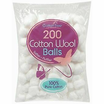 2 x 200 Cotton Wool Balls Make Up Nail Polish Varnish Remover Cleaning Absorbent