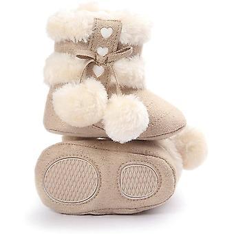 エスタミコベビーガールぬいぐるみ冬の雪のボウノットブーツ