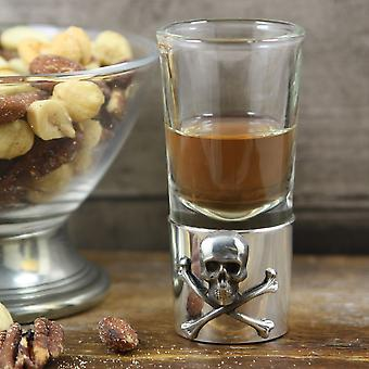 Poison Skull & Crossbones Zinn Single Shot-Glas