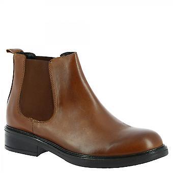 Leonardo Shoes Damskie&s ręcznie modne buty chelsea z brązowej skóry cielęcej