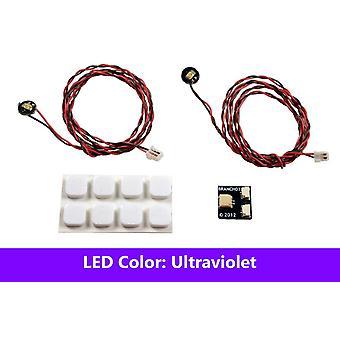Brickstuff Ultraviolet Pico LED Light Board 2-Pack - LEAF01-PUV-2PK