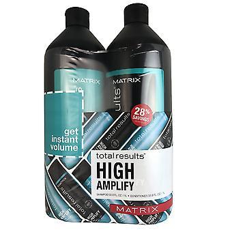Matrix high amplify hair shampoo and conditioner duo 33.8 oz each