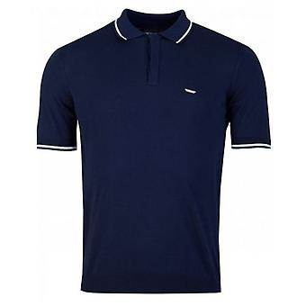 Armani Knitted Tipped Polo Shirt