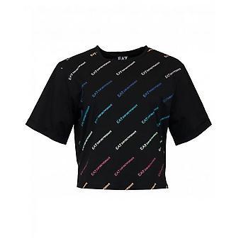 Ea7 Train Master All Over Logo T-Shirt
