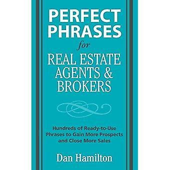Perfecte zinnen voor Real Estate agenten & makelaars