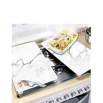 Wenko Set Of 2 Universal Gas Electric Induction Hob Stove Covers Chopping Board Worktop Surface Protectors