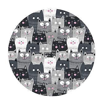 Kids Rug - Chats - Lavable - Cercle 150 cm
