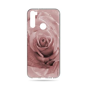 Hull For Xiaomi Redmi Note 8t Soft Flower Rose In Pastel Rose