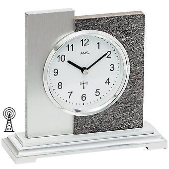 5150 taulukon kelloradio hopea moderni AMS luonnonkivestä viimeistely alumiini-tuki