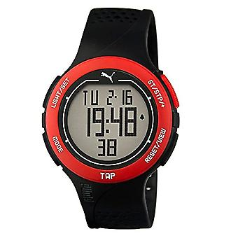 Cougar Time Touch watch, digital, Unisex, rubber strap, Black/Red