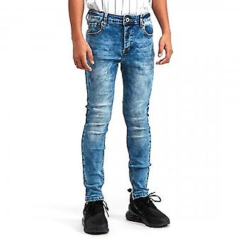 Kings Will Dream Junior Domer Superslim Stretch Mid Blue Wash Jeans J261