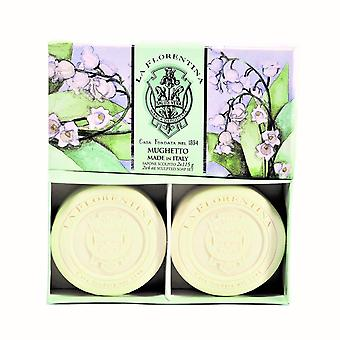 La Florentina Lily of the Valley 2 Bars soap 115 g