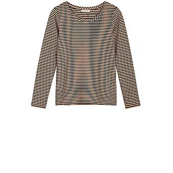 Sandwich Clothing Navy & Tan Stripes Top