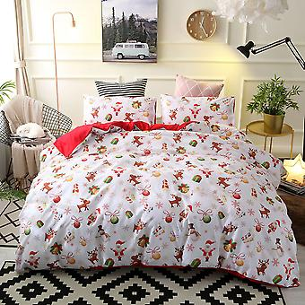 Green Christmas Printed Bedding Set