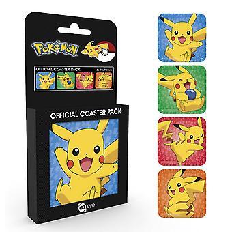 Pokemon Pikachu Coaster4-Pakkaus