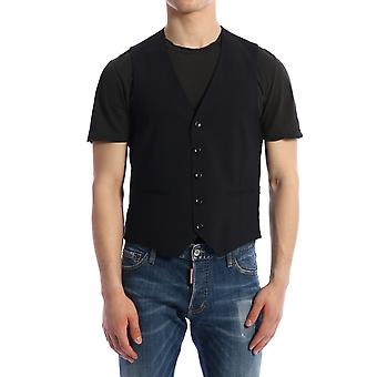 Tonello 01lg1001063u600 Men's Blue Wool Vest