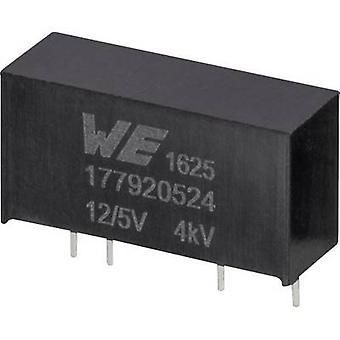 Würth Elektronik 177920524 DC/DC-Wandler (Druck) 12 V 5 V 0,2 A 1 W Nr. der Ausgänge: 1 x