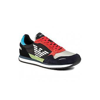 Emporio Armani Black/blue Sneaker Trainer