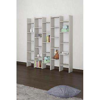 Libreria Multi 1 Color Rovere Ghiaccio in Truciolare Melaminico, Plastica, Ferro 151x28x180 cm