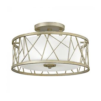 Nest Ceiling Light, Silver And Glass, 3 Bulbs