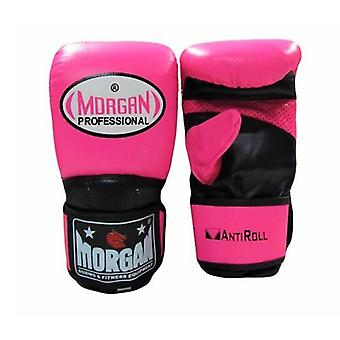 Morgan V2 Professional Curved Leather Bag Mitts Fluro Pink