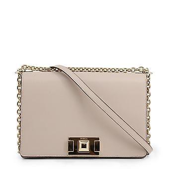 Woman leather across-body handbag f90007
