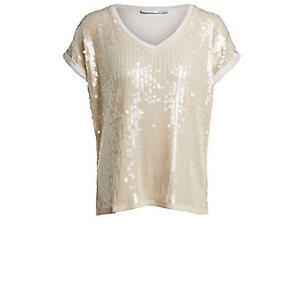 Oui Sequin Detailed Top