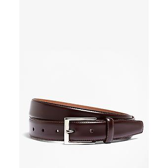 Brooks Brothers Men's Calfskin Deri Kemer Düzenli Fit