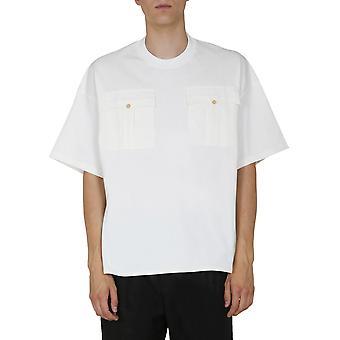 Jil Sander Jsmr707012mr248708102 Miesten valkoinen puuvilla t-paita