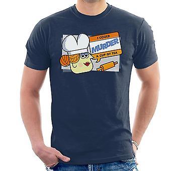 Hasbro Cluedo Frau Weiß könnte eine Tasse Tee Männer's T-Shirt morden
