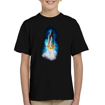 NASA Atlantis Launch Stellar Effect Kid's T-Shirt