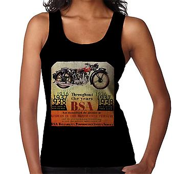BSA Throughout The Years Women's Vest