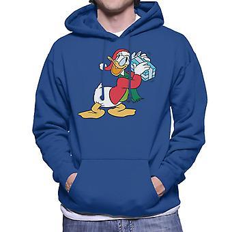 Disney Donald Duck Christmas Gift Shake menn ' s Hettegenser