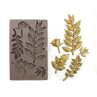 Re-Design with Prima Leafy Blossom 5x8 Inch Mould