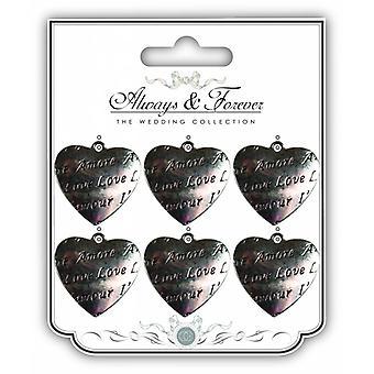Craft Consortium Metal Vintage Heart Charm Amore