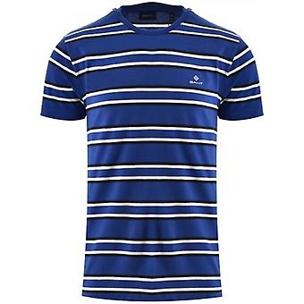 GANT Blue Striped T-Shirt
