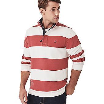 Crew Clothing Mens Wide Stripe Padstow Collared Sweatshirt