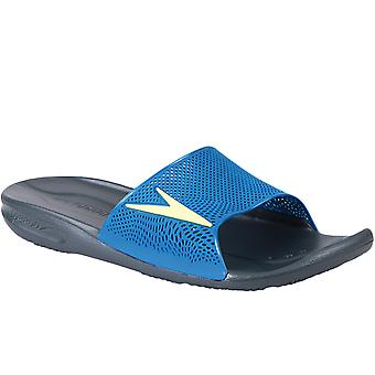 Speedo Mens Atami II Max Slip On Summer Water Beach Flip Flops Sliders - Grigio