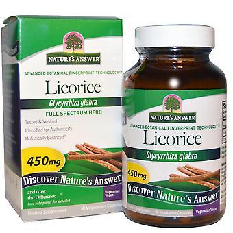 Respuesta de Nature's, Regaliz, 450 mg, 90 Cápsulas Vegetarianas