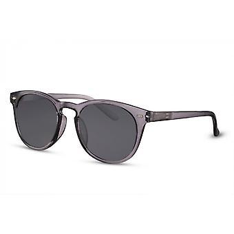 Okulary przeciwsłoneczne Unisex wokół w pełni oprawionego kota. 3 czarny/szary