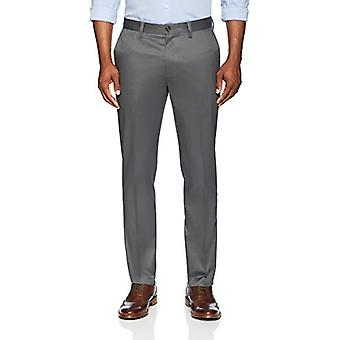 BUTTONED DOWN Men's Slim Fit Stretch Non-Iron Dress Chino Pant, Dark Grey, 32...