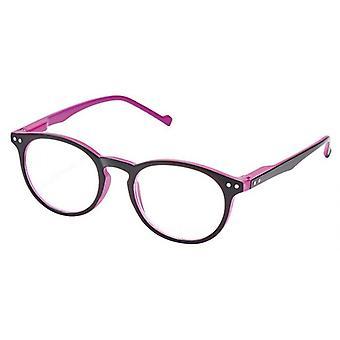 Reading Glasses Unisex Libri_x Bicolor Purple/Black Thickness +1.0