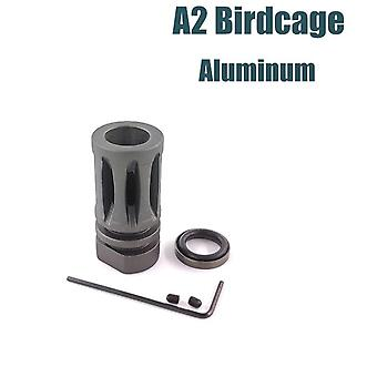 14MM CCW Thread M4/M16 A2 Birdcage Flash Hider - Muzzle Device for JInMing Gen9 /J9 Water Gel Ball Blaster